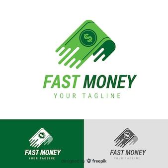 Modèle de logo argent