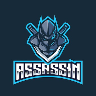 Modèle de logo assassin esport