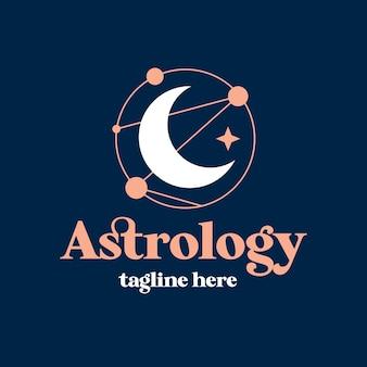 Modèle de logo d'astrologie