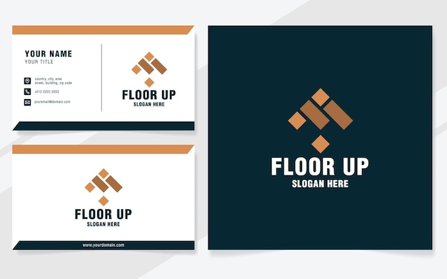 Modèle de logo au sol sur un style moderne