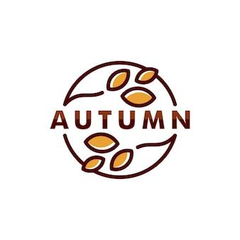 Modèle de logo automne été. feuille icône symbole vecteur logotype