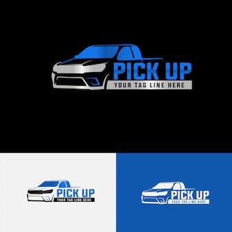 Modèle de logo automobile ramasser