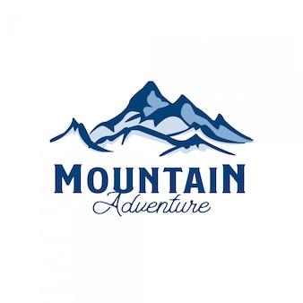Modèle de logo d'aventure en montagne