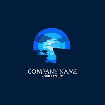 Modèle de logo d'aventure