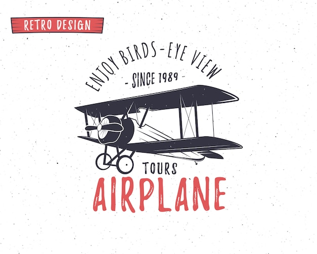 Modèle de logo d'avion