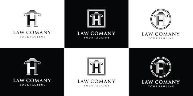 Modèle de logo d'avocat créatif monogramme lettre h