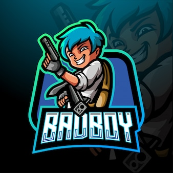 Modèle de logo bad boy esport