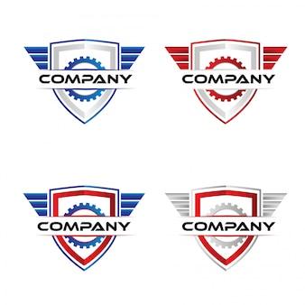 Modèle de logo de badge de course