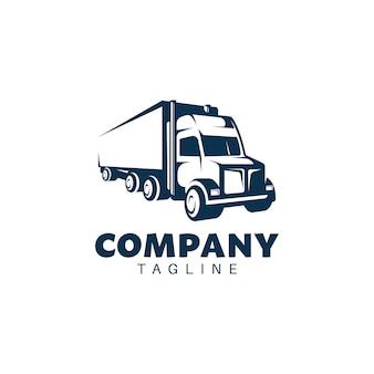 Modèle de logo badge rétro camion