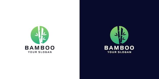 Modèle de logo en bambou