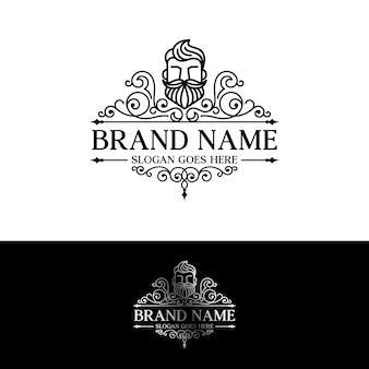 Modèle de logo de barbe