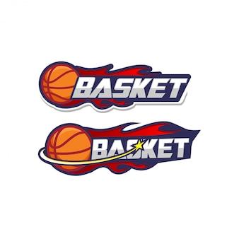 Modèle de logo de basket-ball