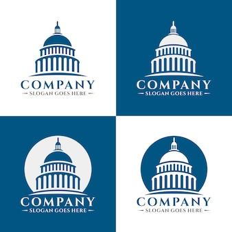 Modèle de logo bâtiment capitol