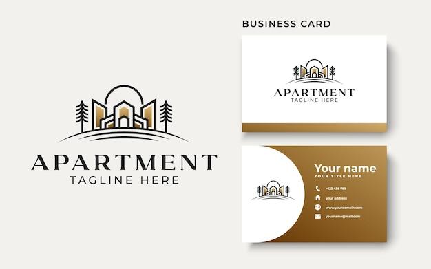 Modèle de logo de bâtiment immobilier isolé sur fond blanc. illustration vectorielle