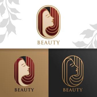 Modèle de logo de beauté femme élégante simple