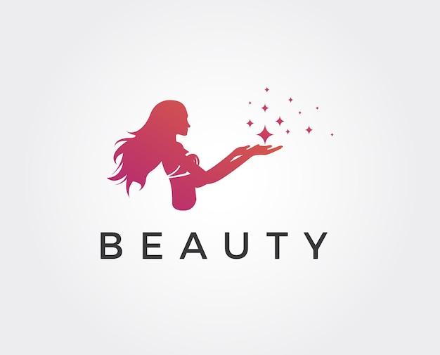 Modèle de logo de beauté minimal