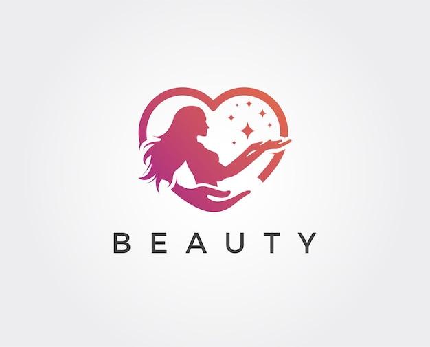 Modèle de logo de beauté minimale