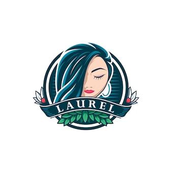Modèle de logo de beauté vintage