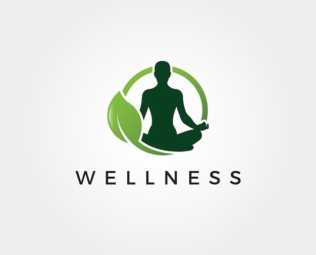 Modèle de logo de bien-être minimal