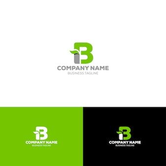 Modèle de logo bio lettre b