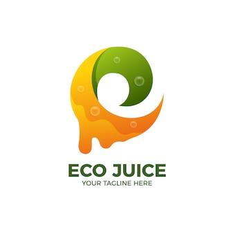 Modèle de logo de boisson de jus de fruits frais 3d