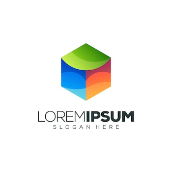 Modèle de logo de boîte