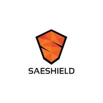 Modèle de logo bouclier lettre s