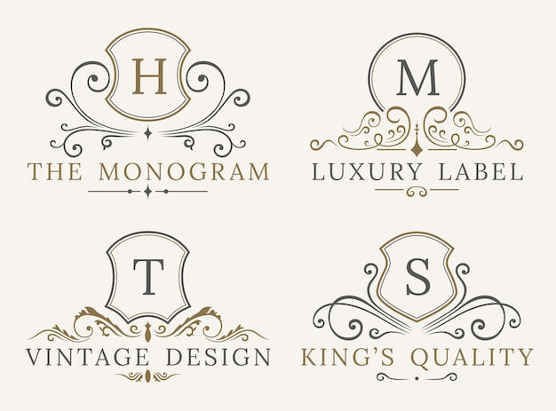 Modèle de logo de bouclier de luxe