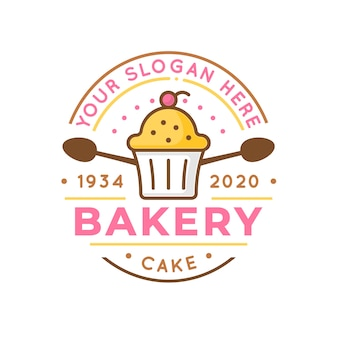 Modèle de logo de boulangerie créative