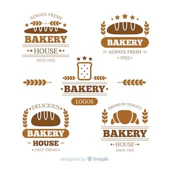 Modèle de logo de boulangerie plat