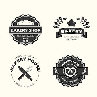 Modèle de logo de boulangerie rétro