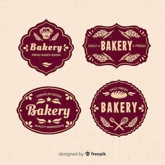 Modèle de logo de boulangerie vintage