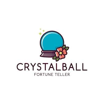 Modèle de logo de boule de cristal