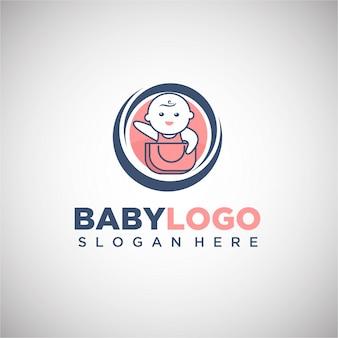 Modèle de logo de boutique bébé