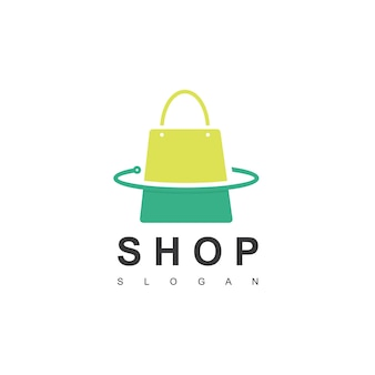 Modèle de logo de boutique en ligne