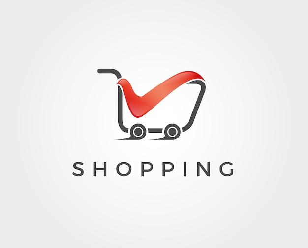 Modèle de logo de boutique en ligne.