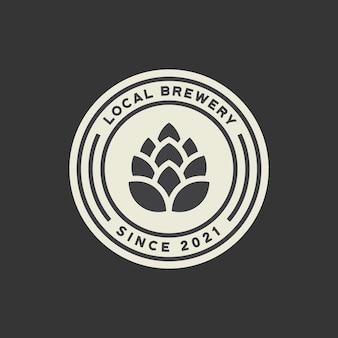 Modèle de logo de brasserie