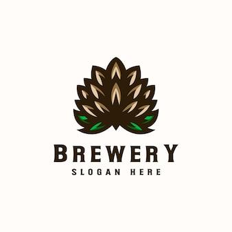 Modèle de logo de brasserie.