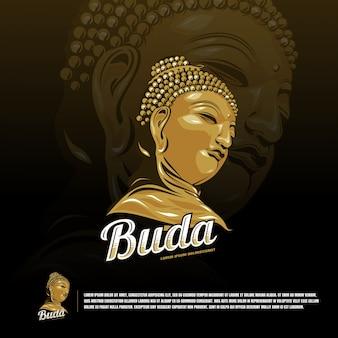 Modèle de logo budha sport team