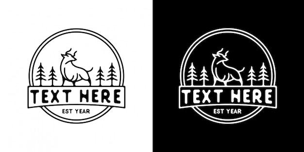Modèle de logo buffalo monoline
