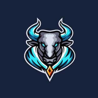 Modèle de logo bull e sports