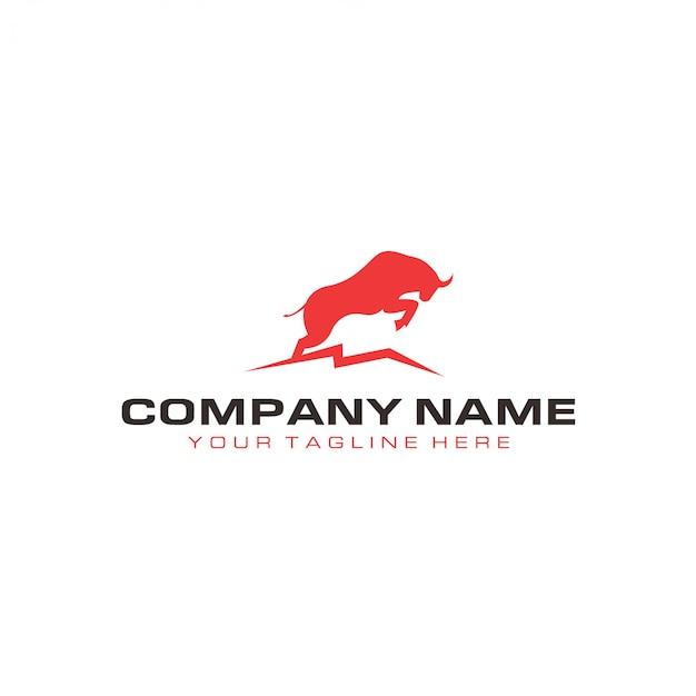 Modèle de logo bull