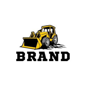 Modèle de logo de bulldozer