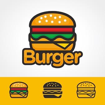 Modèle de logo de burger