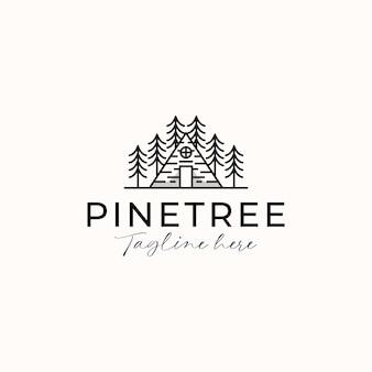 Modèle de logo de cabine de pin