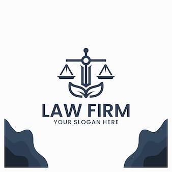 Modèle de logo de cabinet d'avocats naturel