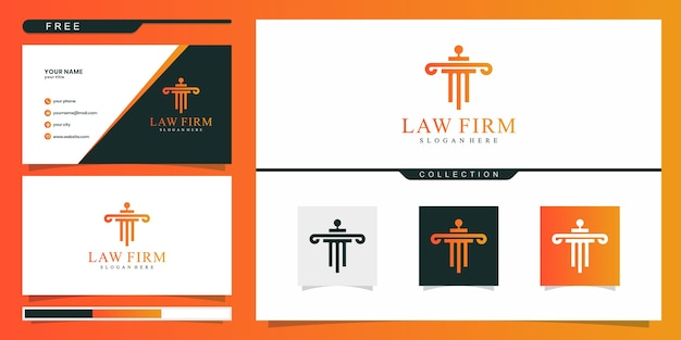 Modèle de logo de cabinet juridique élégant
