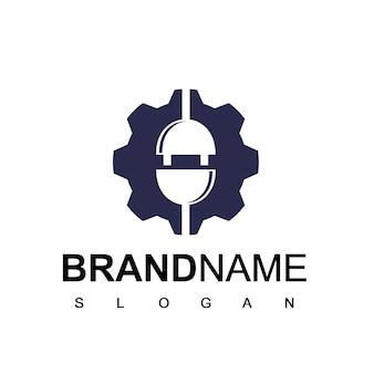 Modèle de logo de câble électrique