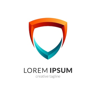 Modèle de logo de cadre de bouclier prêt à l'emploi
