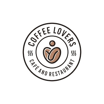 Modèle de logo de café café vintage